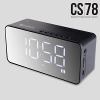 Comson CS78 Speaker Portable Bluetooth dengan Alarm dan Jam Digital FS