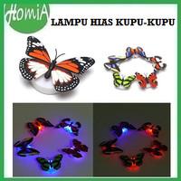 Lampu Hias LED Kupu Kupu Lampu Dekorasi Tempel Kamar Tidur Butterfly