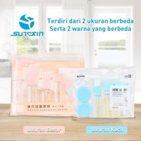 7 in 1 Travel Toiletries Kit Set Botol Kecil Berpergian 1 set isi 7