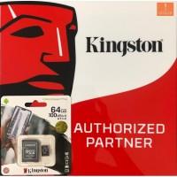 MicroSD Kingston 64GB CLASS 10 - A1 Performance Memory Card ORIGINAL