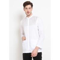 Jobb Rifaah Baju Koko Pria Traditional Look Lengan Panjang White