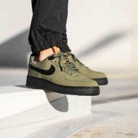 "Sepatu Nike Air Force 1 ""Medium Olive/Black"""