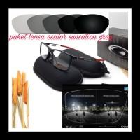 kacamata minus | lensa essilor sunsation paket frame&lensa minus