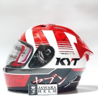 HELM KYT RC SEVEN MOTIF 17 WHITE RED