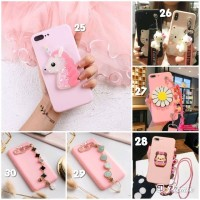 Softcase Pink Series Motif 3D Case Oppo F3