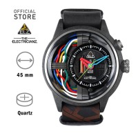 ELECTRICIANZ The Carbon Z Jam Tangan Quartz Skeleton Hitam Analog