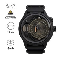 ELECTRICIANZ The Blackout Jam Tangan Quartz Skeleton Hitam Analog