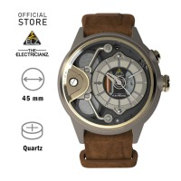 ELECTRICIANZ The Dezert Jam Tangan Quartz Skeleton Coklat Analog