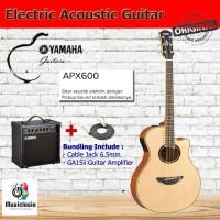 Gitar Akustik Elektrik YAMAHA APX600 / APX 600 with Guitar Amplifier - Black