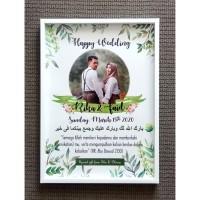 Hadiah Pernikahan Frame Box A3 - Kado Pernikahan Hantaran 3D