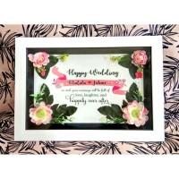 Bingkai 3D Kado Pernikahan Bisa Custom Untuk Kado Wisuda Ulang Tahun