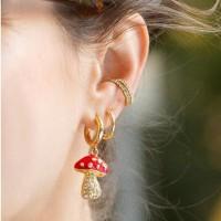 Anting Korea Diamond Mushroom Earrings