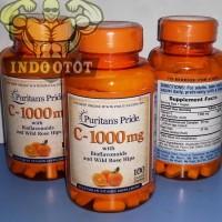 Puritans Pride Vitamin C1000 C-1000 mg 100 Caplets Caps 100Caps Vit C