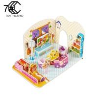 Tehthousand 1 Set Puzzle Jigsaw Model Istana 3D untuk Edukasi