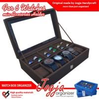 akaz organizer Brown Watch Box Mix Ring Organizer   Box Jam Kombinasi