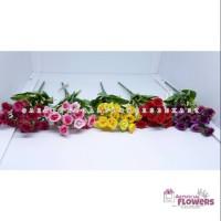 Jual Bunga Mawar artificial rose bucket rose kain Limited