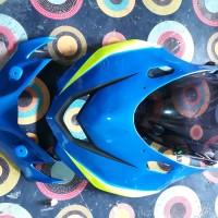 topeng kedok gsx R150 plus visor dan winglet ASM