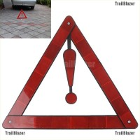 TBID belle Emergency Red Reflective Triangle Warning Sign PVC Safety