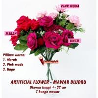 Jual Artificial Flower / Bunga Palsu Mawar Beludru - AFB Murah