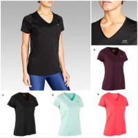 Pakaian Olahraga Kalenji Run Dry Kaos Olahraga Lari Wanita Original