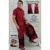 celana sarung batik premium MERAH