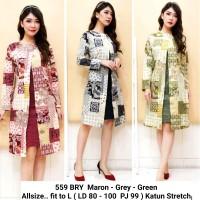 Dress Batik Lengan Panjang / Dress Batik Formal