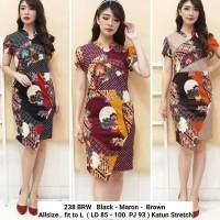 Dress Kerja Wanita / Batik Dress Wanita Kantoran