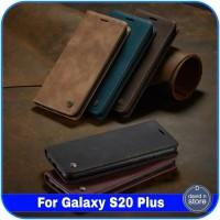 Casing Samsung Galaxy S20 Plus S 20 Plus Leather Magnetic Flip Case