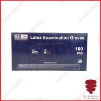 Sarung Tangan Latex Ukuran S M L GID Care Handscoon Gloves Per Box