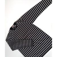 Kaos Lengan Panjang Garis Stripes Unisex Katun Big Size XXL - Premium