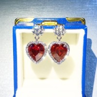 Anting Love Lapis Emas Kristal Swarovski Elements Fliz AS17059
