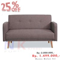 Velio sofa 2 seater scandinavian, sofa apartment, bisa COD