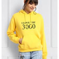 Sweater Hoodie Korean / OuterWear Cewek / Wanita Dewasa - I Love 3000