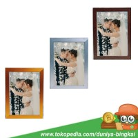 Bingkai Foto Murah A4 (21x30 cm) , Motif Serat Kayu Gold/Silver/Coklat