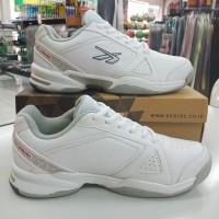 sepatu sapatu tenis tennis spotec dexter putih silver original