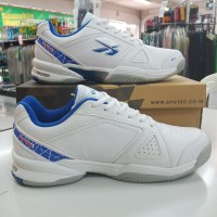 sepatu sapatu tenis tennis spotec dexter putih biru original