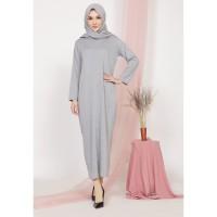 Mybamus Adhara Basic Dress Light Gray M15463 R90S6