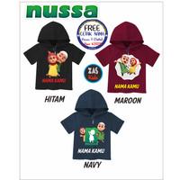 Kaos Hoodie Anak NUSSA Free Cetak Nama