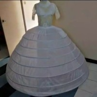 petikut rok dalaman 8 ring mengembang gaun kebaya pengantin
