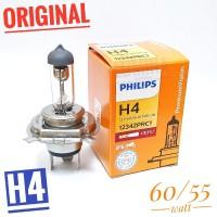 Philips Premium Vision H4 60/55W +30% Lebih Terang - Lampu mobil