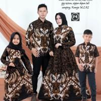 couple batik keluarga baju gamis batik set anak ayah ibu terbaru