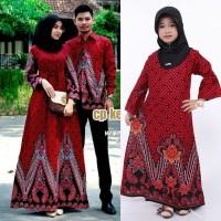 Couple gamis batik set anak permpuan dan Ayah ibu batik keluarga