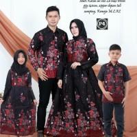 couple batik keluarga baju gamis batik set anak anak terbaru