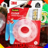 Scotch Clear Mounting Tape 3M 4010C 21mm X 2M Double Tape