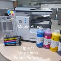 Mesin Fotocopy Warna HP 477 DW Sudah Modif, Baru, lengkap siap pakai