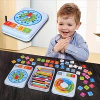 Puzzle kayu Kartu Magnetik / Permainan Puzzle Belajar Matematika