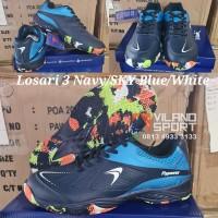 Sepatu Badminton Flypower Losari 3 Navy/Sky Blue/White