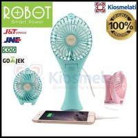 Kipas Angin Portable Lipat Robot Original RT-BF07 Mini Fan Powerbank