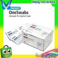 [TERBATAS] One Swabs Onemed Tissue Alkohol Swab 2 Ply Steril Alcohol