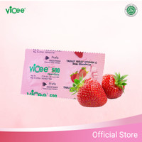 Vitamin C Vicee Strawberry 1 box - 100 Tabs